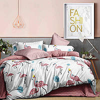 Двуспальный комплект постельного белья евро 200*220 хлопок  (14518) TM KRISPOL Украина