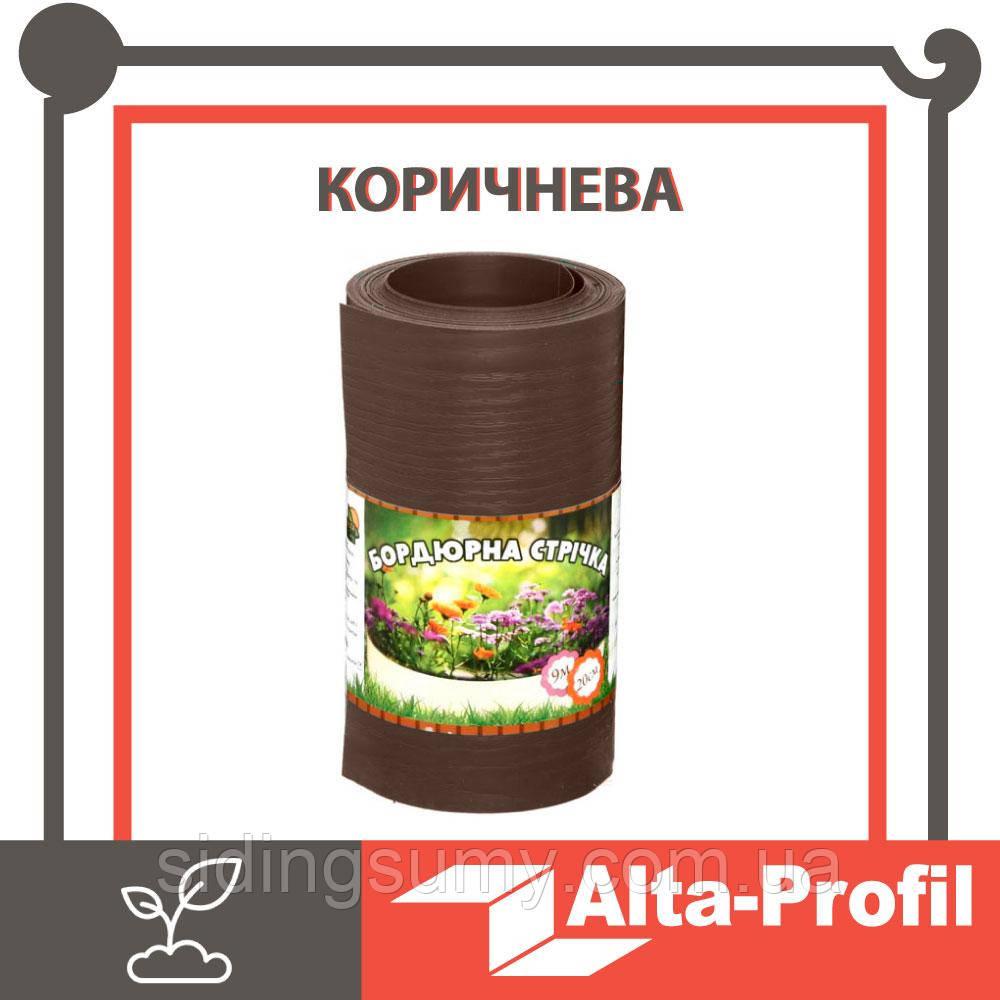 Бордюрная лента садовая Альта-Профиль расширенная 0,5х200х9000 мм коричневый от производителя