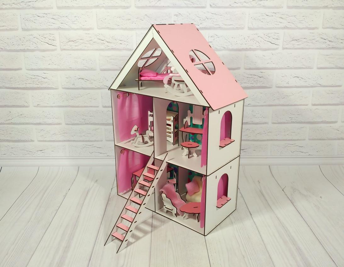 Кукольный домик LITTLE FAN MAХI с мебелью