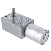 Мотор редуктор червячный JGY-370 12В 40об/мин