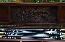 """Авторський набір шампурів ручної роботи """"Biker"""" у футлярі з дерева з гравіюванням, фото 2"""