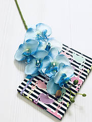 Ветка орхидеи фаленопсис 78 см голубая