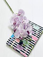 Ветка орхидеи фаленопсис 78 см сиреневая