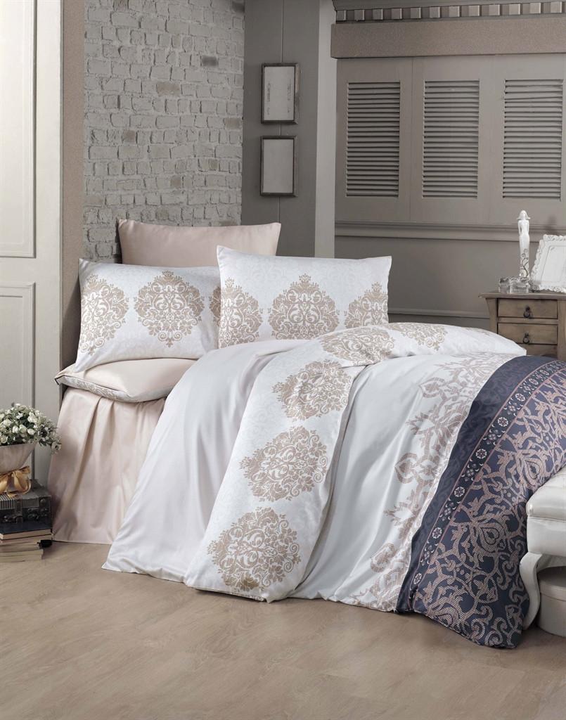 Комплект постельного белья двуспальный Victoria Sateen Asrin 200x220 (35264_2,0)