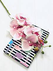 Ветка орхидеи фаленопсис 78 см розовая