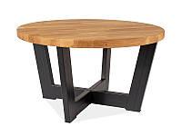 Журнальный стол CONO B натуральный дуб/черный 60х60х55 (Signal), фото 1