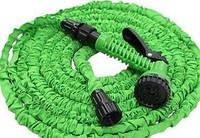 Шланг для полива 30м Magic Hose растяжной с распылителем (Зеленый)
