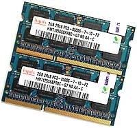 Пара оперативной памяти для ноутбука Hynix DDR3 4Gb (2Gb+2Gb) 1066MHz 8500s CL7 (HMT125S6BFR8C-G7 N0 AA-C) Б/У, фото 1