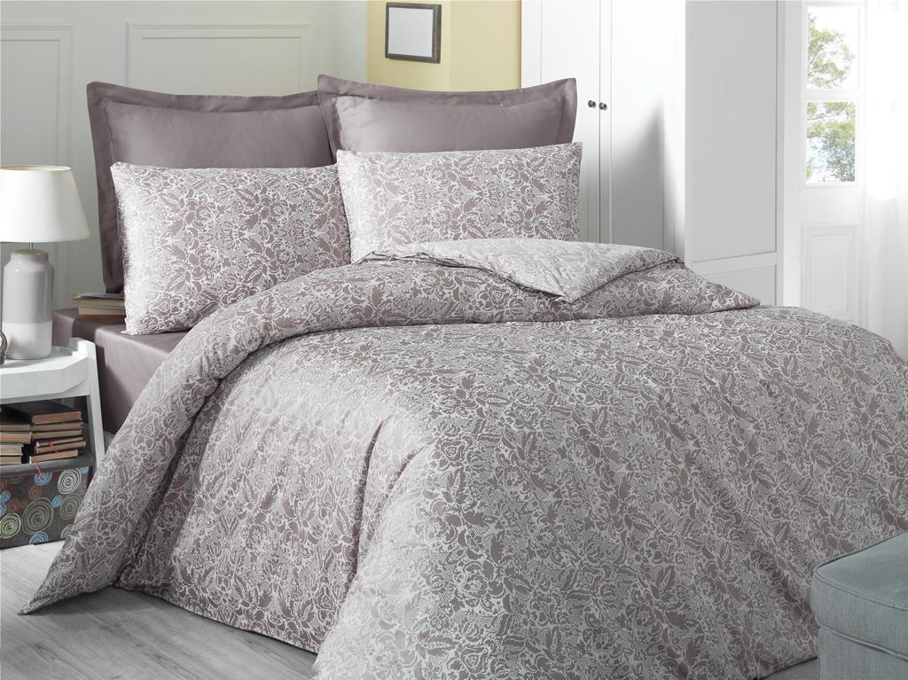 Комплект постельного белья двуспальный Victoria Sateen Cappucino 200x220 (38666_2,0)