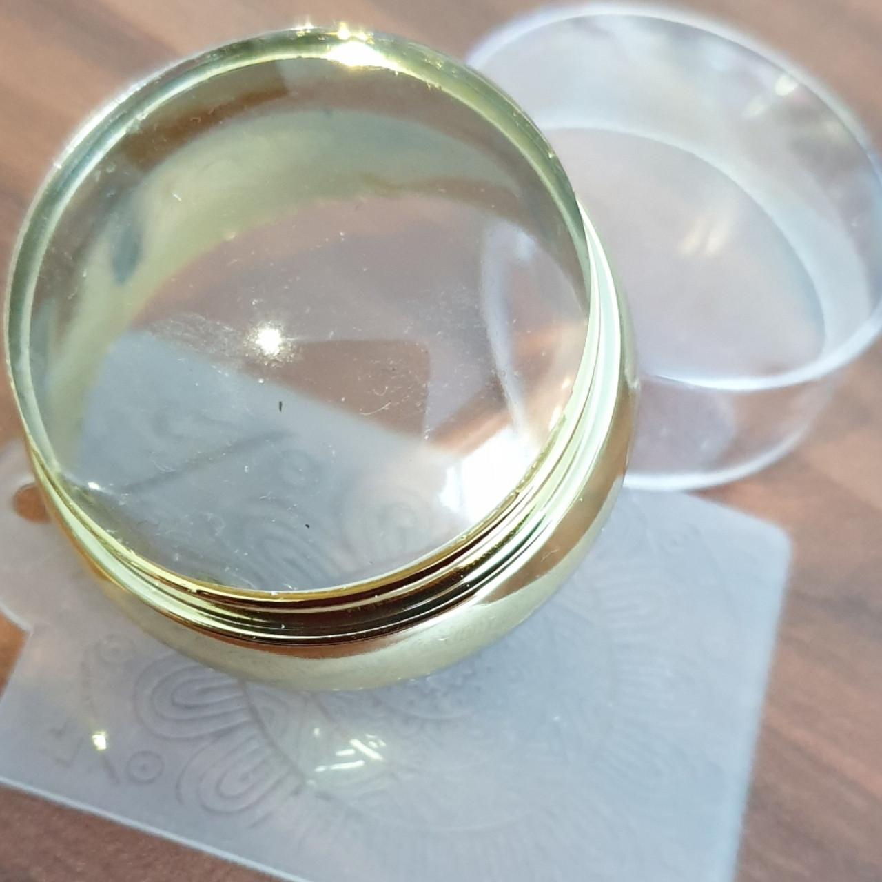 Штампик для стемпинга великий+ одна пластина скребок . діаметр подушечки 4см