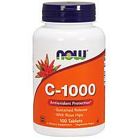 Now Foods, Витамин C-1000, с шиповником, 100 таблеток, фото 1