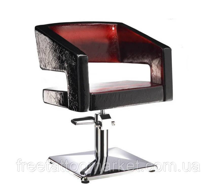 """Кресло парикмахерское """"VM 824"""" на гидравлике хром, пятилучье"""