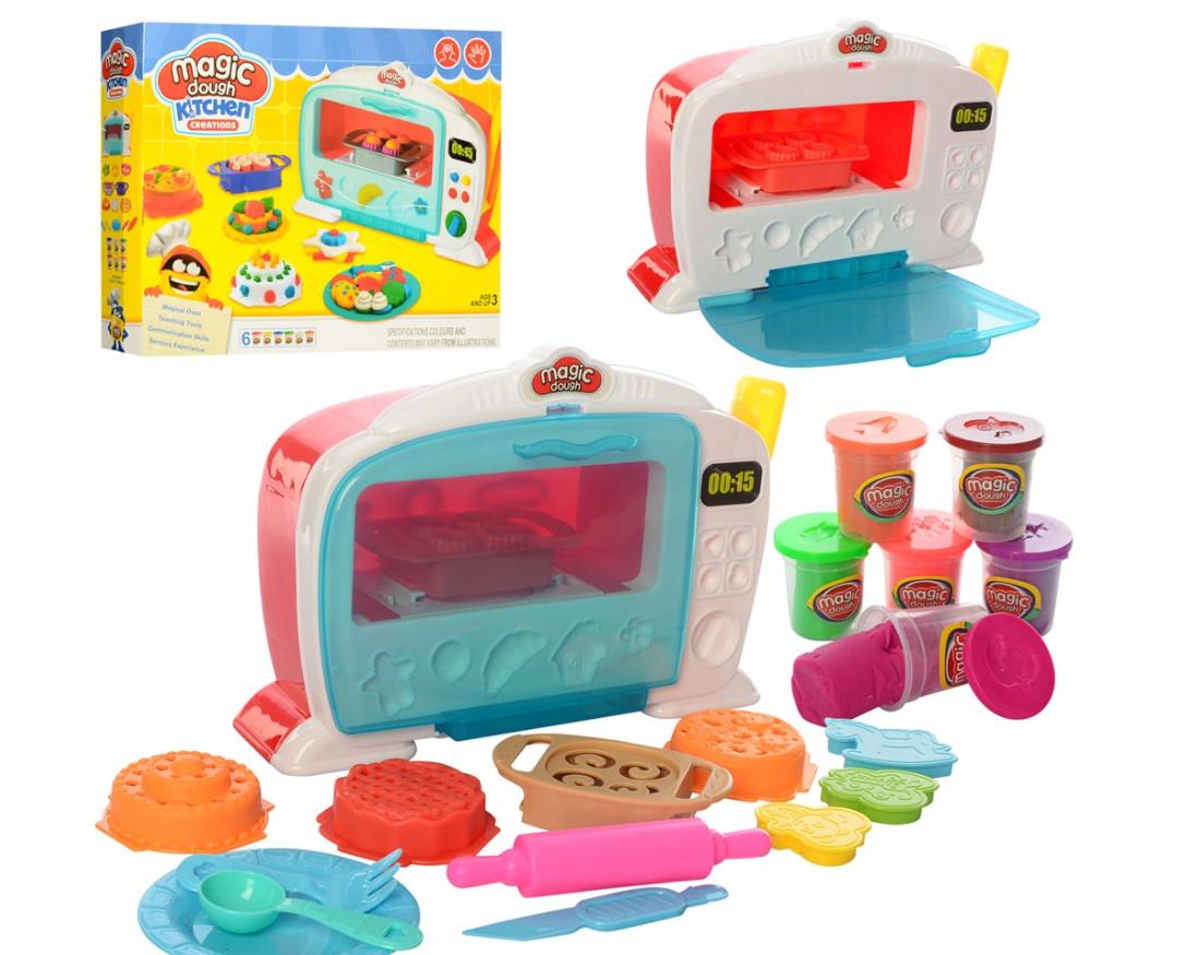 Набір для ліплення маса і творчості пластилін чудо піч Play-Toy MK 2244