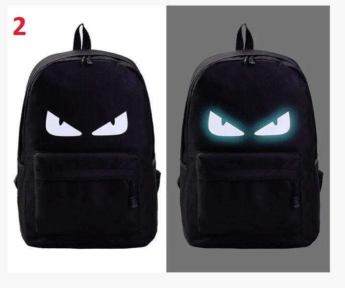 Уценка! Школьный рюкзак с иллюминацией светится в темноте принт. Читаем описание.