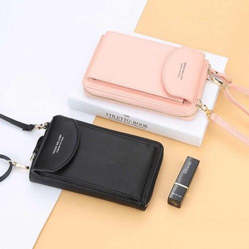 Женская сумка кошелек Baellerry forever цвет Пудра, сумочка для телефона через плечо