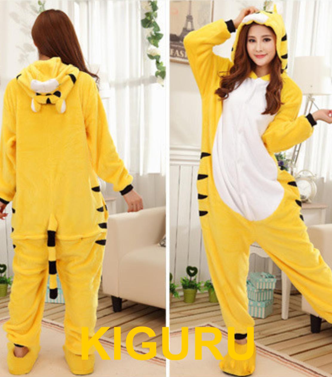 Пижама жёлтый тигр костюм кигуруми