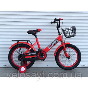 """Велосипед дитячий TopRider-09 16"""" двоколісний, синій, фото 2"""