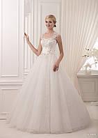 Загадочное свадебное платье розшито стразами и камнями