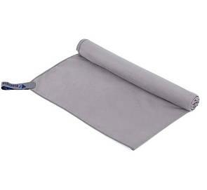Туристическое полотенце BLUEFIELDиз микрофибры 70х35 см. Серый.