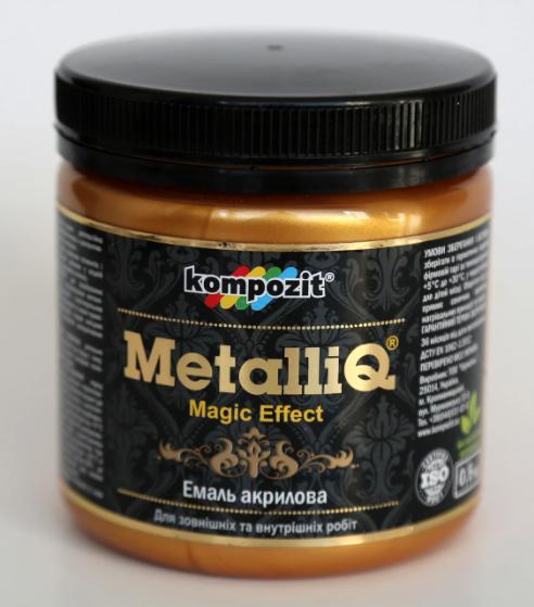 Эмаль акриловая Kompozit METALLIQ (0,9 кг) Красное золото