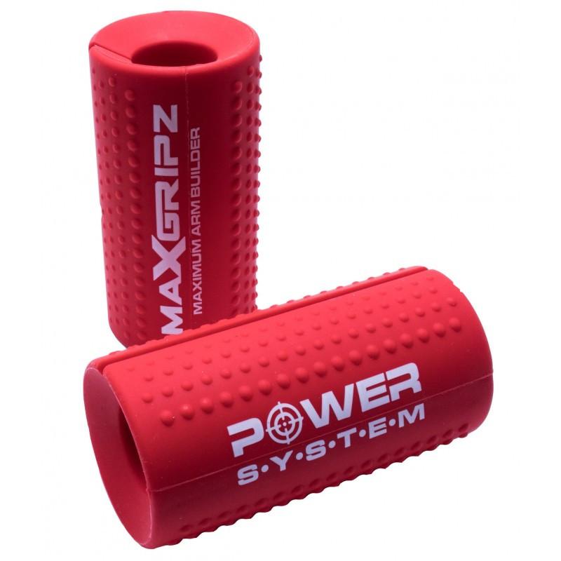 Расширители грифа Power System Max Gripz PS-4057 XL 12*5 см Red (расширитель хвата) 2шт.