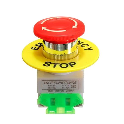 Кнопка аварийного отключения 40мм 660В 10А 1NO+1NC с фиксацией грибок 2005-05381