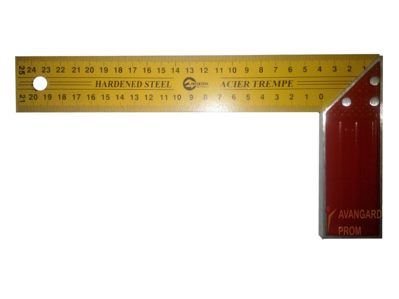 Угольник строительный Intertool 250mm (MT-2026)