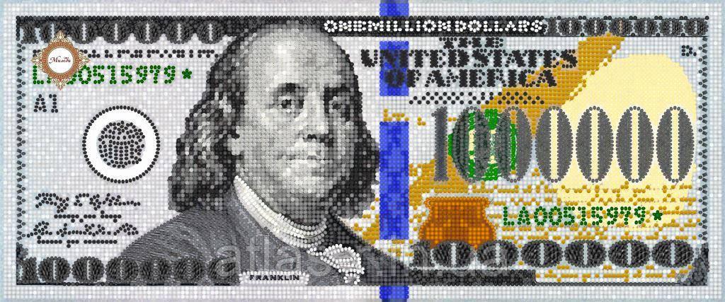 А3 ONE MILLION DOLLARS. ТМ МИЛЕДИ. СХЕМА ДЛЯ ВЫШИВАНИЯ