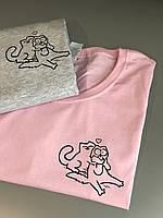 Парные футболки для парня и девушки с принтом - Котики