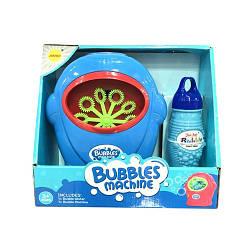 Детская установка для пускания мыльных пузырей 0920P с запаской на батарейках