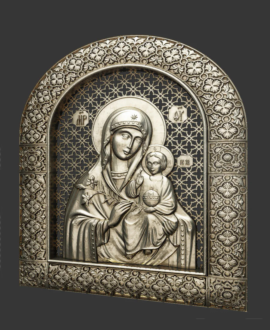 Ікона   Неувядаемый божья матерь
