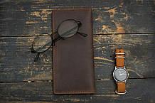 Мужское портмоне кошелек Финансист темно-коричневый