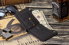 Мужской кожаный кошелек mod.Legion черный