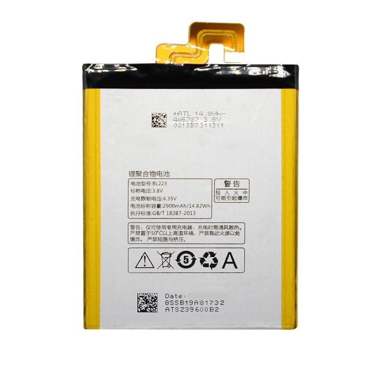 Аккумулятор BL223 для Lenovo Vibe Z2 Pro k920 2900 mAh (03853)