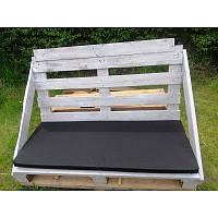 Подушка для дивана из поддонов черная