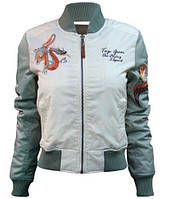 Женский бомбер Miss Top Gun The Flying Legend Jacket TGJ1678 (Cream), фото 1