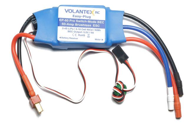 Регулятор хода 60A БК для авиамоделей VolantexRC EasyPlug-60, фото 2