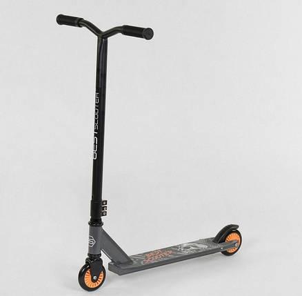 Самокат трюковый Best Scooter 49872 пластиковый диск. Колёса PU d=10 см, фото 2