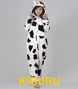 Костюм кигуруми пижама корова