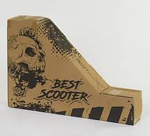 Самокат трюковый Best Scooter 49872 пластиковый диск. Колёса PU d=10 см, фото 3