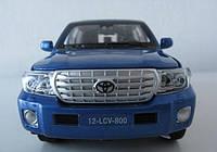Коллекционная машинка Toyota Land Cruiser J200 V8 Синяя, фото 1