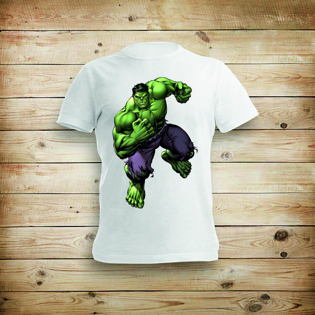Футболка YOUstyle Hulk 0004 XXL White