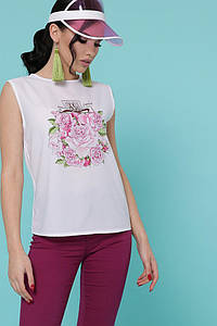 Парфюм Цветы футболка Киви б/р белый p48956 #O/V