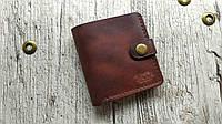 """Мужской кожаный кошелек, портмоне """"Point"""". Ручная работа. Цвет коричневый. Мастерская """"ViPu"""""""