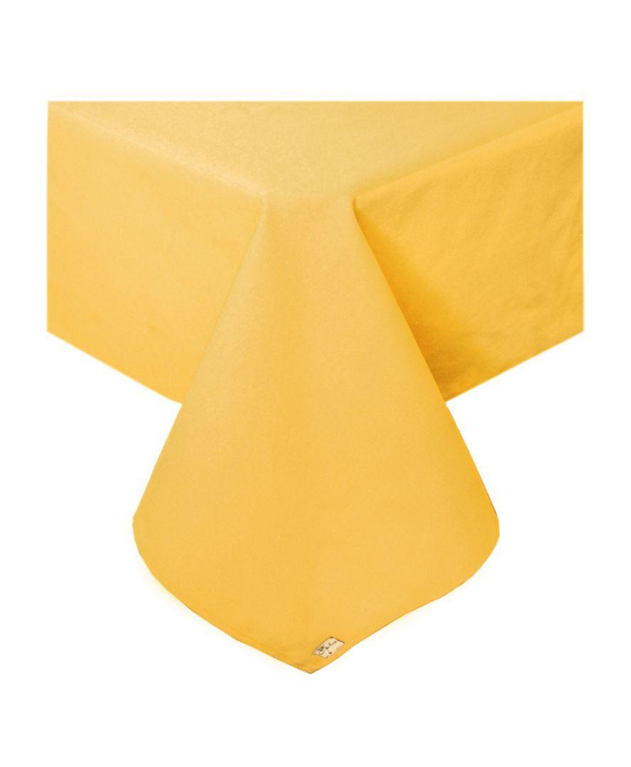Скатерть на стол хлопок Желтая 134*134 см