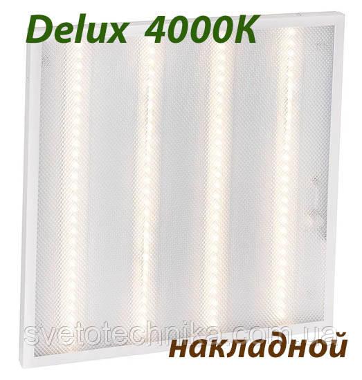 Офисная 600*600 накладная светодиодная панель потолочная амстронг Delux 36W 4000K