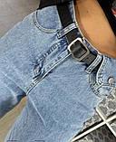 Джинсы прямого кроя с декоративным карманом, цвет голубой   р-р. S, M, L, XL  код 315Т, фото 3