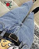 Джинсы прямого кроя с декоративным карманом, цвет голубой   р-р. S, M, L, XL  код 315Т, фото 4