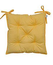 Подушка на стілець табурет бавовна Жовта