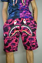 Шорты Bape Shark Violet, фото 2